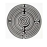 """Il labirinto """"Templare"""" di Tarry Town a Temple Cowley in Inghilterra."""