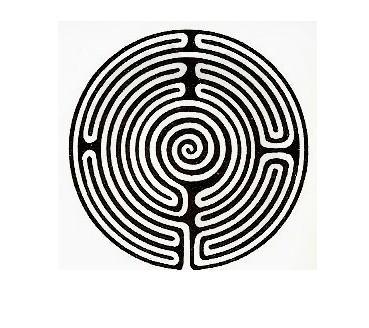 1 Labirinto di Sheperd's race- disegno tratto da Atlante dei Misteri di Hitching - De Agostini 1982