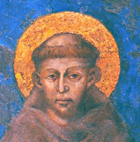 1 San Francesco affresco di Cimabue - Basilica di Assisi