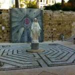 """Un Labirinto """"mariano"""" a Nazareth, segnalatoci dall'architetto Giancarlo Marovelli di Lucca."""