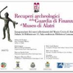 Recuperi archeologici della Guardia di Finanza al Museo di Alatri – sabato 16 febbario 2013, ore 11.00