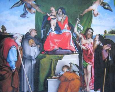 new_Pala S Bernardino 1521 - Lorenzo Lotto - Bergamo S Bernardino in Pignolo