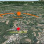 Misteriosa luce arancione avvistata nella notte di sabato 10 agosto a Correzzana in provincia di Monza.