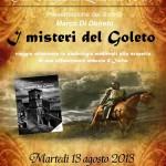 """13 agosto, ore 20.30, presso  l'Abbazia del Goleto di Sant'Angelo dei Lombardi (AV), si terrà la presentazione del nuovo libro di Marco Di Donato; """"I MISTERI DEL GOLETO""""."""