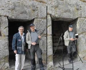 new_Tofani e il prof De Bertolis davanti alla Porta Minore  - Alatri