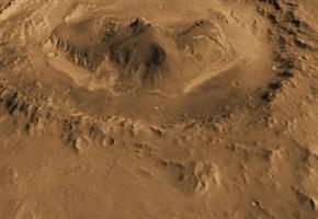 Il cratere Gale su marte dove è atterrata Curiosity