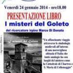"""Il libro """"I misteri del Goleto"""" a L'Aquila – venerdì 24 gennaio 2014, ore 18.00."""
