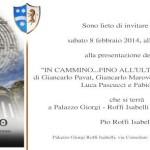 """""""FINO ALL'ULTIMO LABIRINTO"""", sabato 8 febbraio, ore 16.30 a PALAZZO GIORGI-ROFFI ISABELLI a FERENTINO (FR)."""