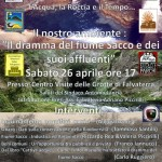 """Convegno """"Il dramma del fiume Sacco e dei suoi affluenti"""" – Falvaterra (FR) sabato 26 aprile 2014, ore 17.00."""