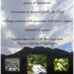 Grande iniziativa escursionistica sul Monte Calvilli (Monti Ausoni) – 12 agosto 2014.