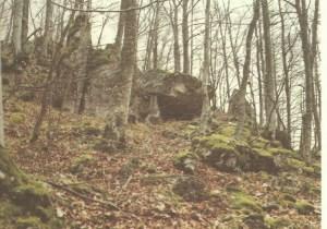 9 Presunto Dolmen di monte Peccia-foto dal libro G Capone - Collepardo 1994