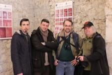 4 Di Donato- Pavat- Coluzzi e Jeff Saward nel chisotro ad Alatri-foto Di Donato