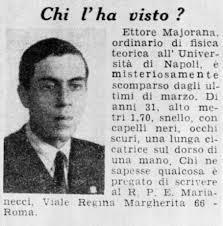 Scomparsa Ettore Majorana
