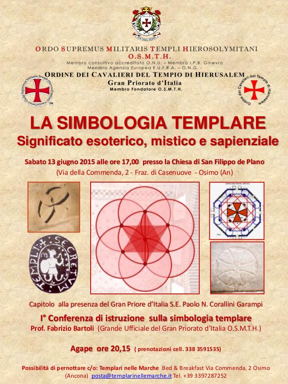 Locandina Evento Simbologia Templare