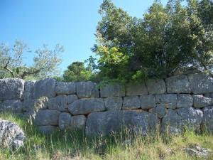 Mura in opera poligonale di Pelonga
