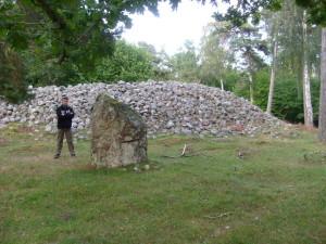 Cairn preistorico a Lejstu Rojr sull'isola di Gotland