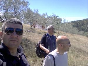 3 Pavat Coppola e Boezi impegnati nella ricognizione sulle colline di Alatri