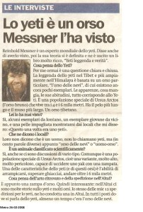 Quotidiano Metro 26-02-2004 Intervista  a Messner