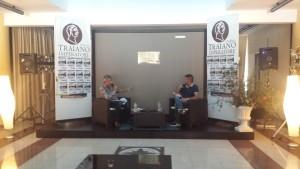 Giancarlo Pavat ed Osvaldo Carigi durante la conferenza