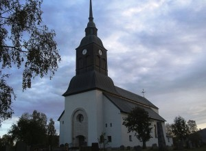 La chiesa di Överkalix in Svezia