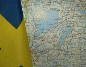 Cartina con i laghi Vänern e Vättern in Svezia