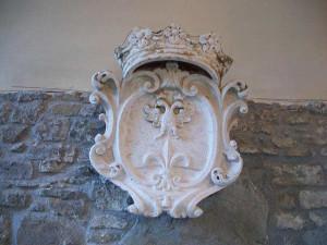 Stemma di Trieste asburgica nel castello di San Giusto