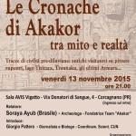 CRONACHE DI AKAKOR, TRA MITO E REALTA'. Convegno venerdì 13 novembre, ore 21.00, a Corcagnano (PR).