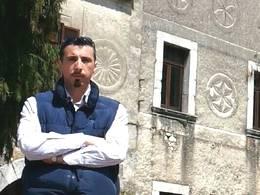 Marco Di Donato presso il Palazzo Marchesale