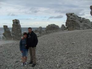 15 Sonia e Giancarlo sulla spiaggia di Langhammars