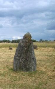 Menhir del sito di Gammel Lejre- Danimarca