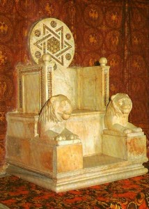 6 Anagni Fr - Sedia episcopale del Vescovo  Landone-foto Pavat