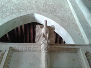 Aquile leporarie nella chiesa di Sant'Agostino a Carpineto Romano - RM e nella Collegiata di Santa Maria ad Amaseno - FR