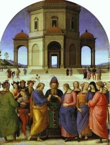 """""""Sposalizio della Vergine"""" del Perugino. Musée des Beaux-Arts di Caen. Francia"""