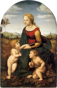 """""""La-Belle-Jardiniere"""" di Raffaello. Louvre, Parigi. Francia"""
