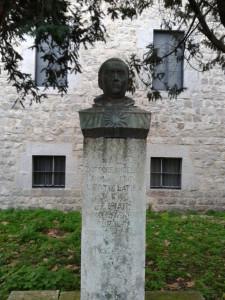 Busto di Sam Tommaso d'Aquino a Fossanova
