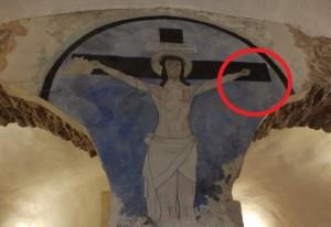 Esadattilia nel Crocifisso del Castello dei Conti di Ceccano