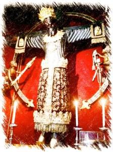 """Il """"Volto Santo """"della cattedrale di S. Martino a Lucca - disegno di G. Marovelli"""