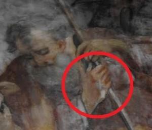 Ceccano - Chiesa S Sebastiano Xv sec -S Giuseppe con sei dita tela de - Copia