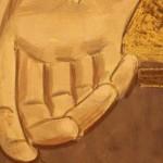 Fidenza (PR), un lettore segnala un altro caso di Esadattilia in un 'opera d'arte.