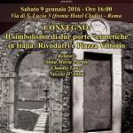 """""""Il Simbolismo di due Porte Ermetiche in Italia: Rivodutri e Piazza Vittorio""""; convegno a Roma, sabato 9 gennaio 2016."""