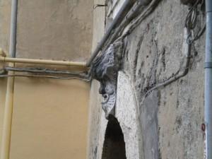 Ceccano - mascherone vicolo d'abbasso a fianco a palazzo Liburdi