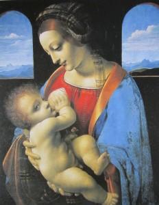 Madonna Litta - attribuita a Leonardo 1490-91 - Museo dell'Ermitage - S Pietroburgo