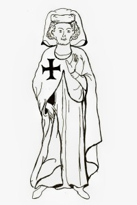 Tannhauser il poeta cavaliere tedesco XIII in abito Teutonico- Cod Manesse XIV Heidelberg