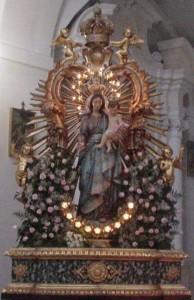 Affresco Madre Santissima delle Rose - Copia