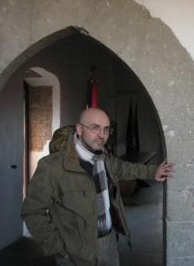 Dino Coppola nel castello di Ceccano