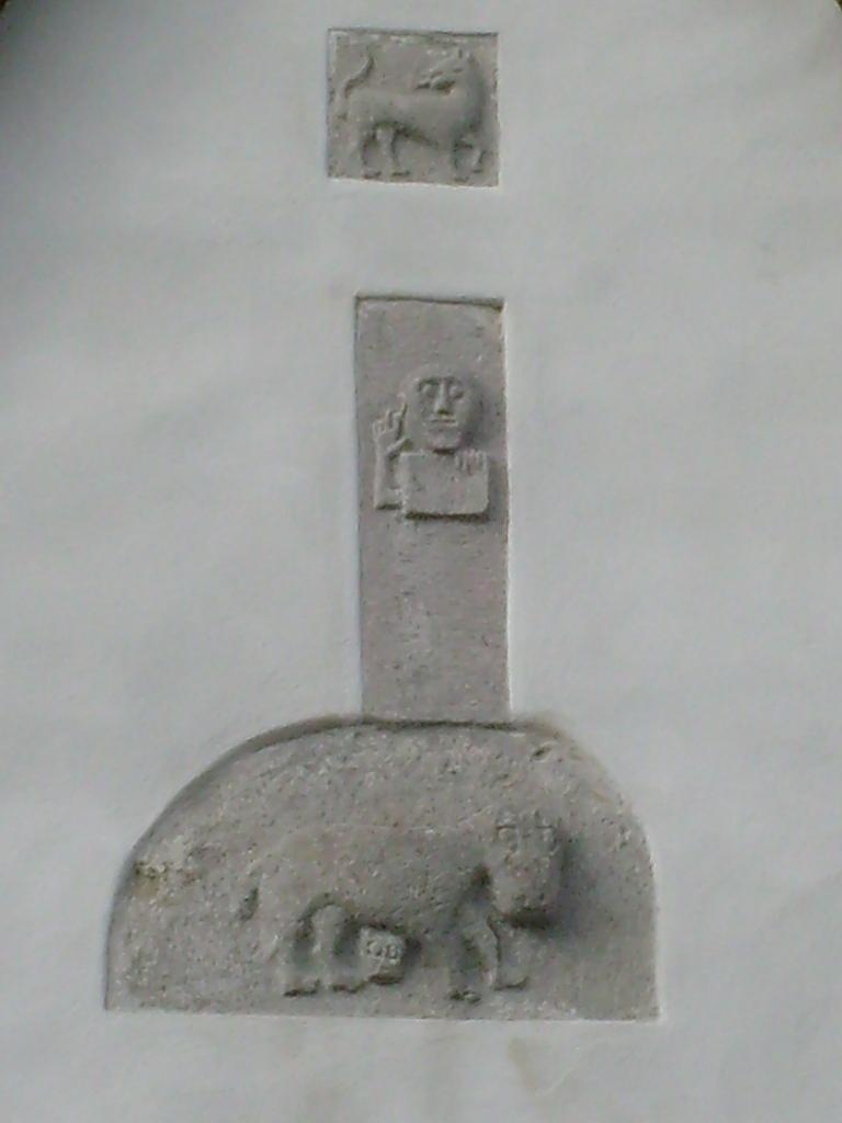 87 bassorilievi tra cui un Cristo benedicente -Gothemkyrka - Gotland