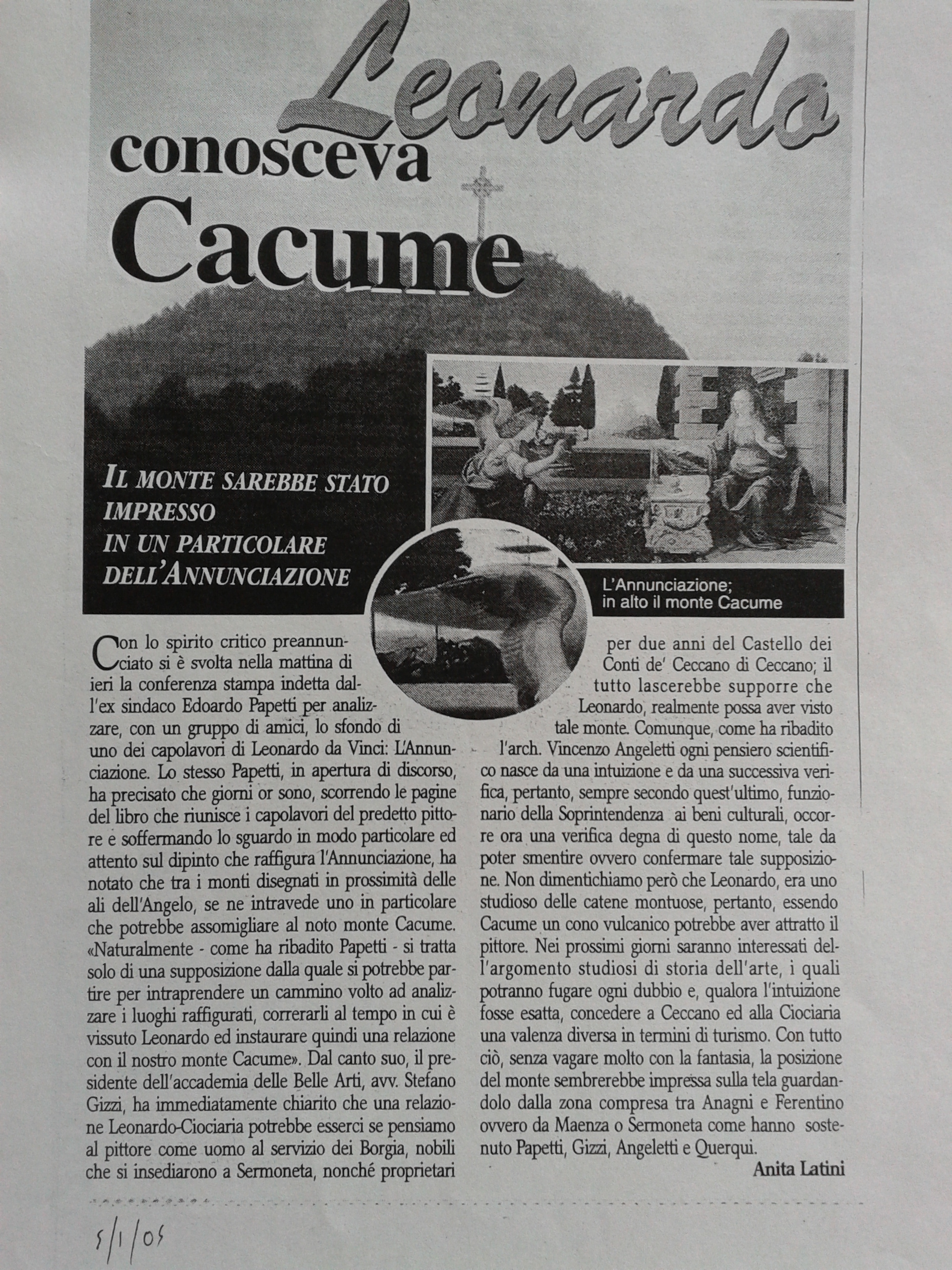 Quotidiano La Provincia di Frosinone - 4 gennaio 2004