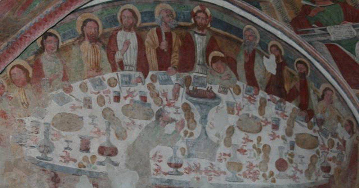 S Lorenzo in Banale - Ultima Cena Chiesa Ss Sebastiano e Rocco