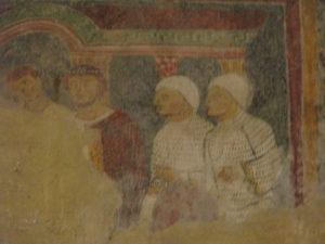 Guerrieri vestiti di bianco nella chiesa di S.Nicola