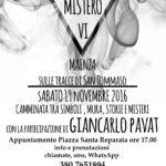 (RINVIATO) Maenza (LT), 19 NOVEMBRE 2016,  VI appuntamento con gli ITINERARI DEL MISTERO!